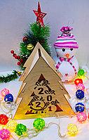 "Подарочная коробка ""Новогодняя ёлка"" деревянная, фото 3"