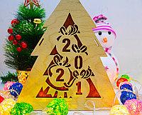 "Подарочная коробка ""Новогодняя ёлка"" деревянная, фото 5"
