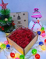 """Подарочная коробка """"Новогодняя"""" (с крышкой, елочка и снежинки), фото 5"""