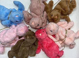 Меховая сумка — рюкзак Кролик