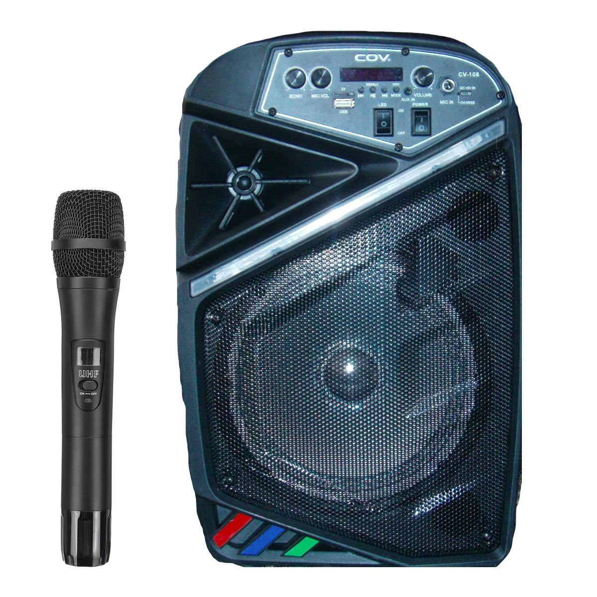 Колонка караоке беспроводная с беспроводным микрофоном Cov-108. В описании есть видео обзор колонки! - фото 1