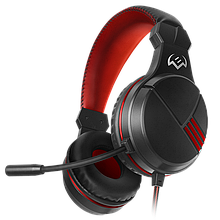 SVEN AP-G828MV гарнитура игровая с микрофоном, черный-красный