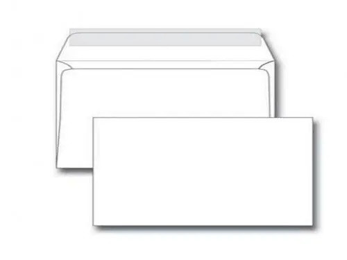 Конверт Е65 Ряжская печатная фабрика (110х220 мм, белый, удаляемая лента)
