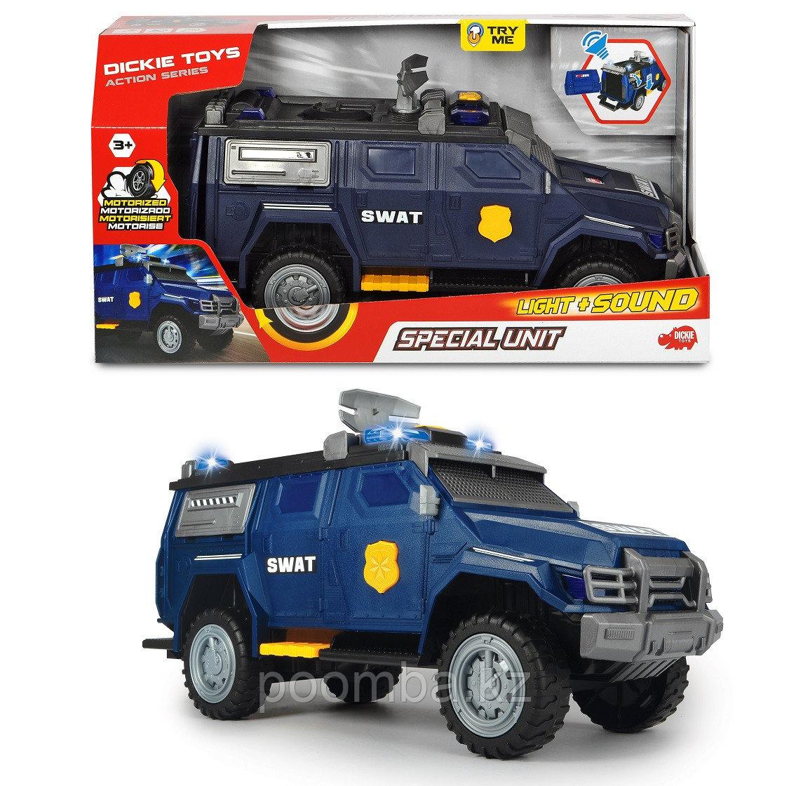 Машинка Спецназа моторизированная  40 см  свет звук Dickie Toys
