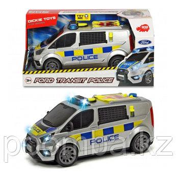 Машинка полицеский минивэн Ford Transit 28 см свет звук  Dickie Toys
