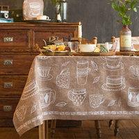 Скатерть 'Доляна' Cup of tea 110х144 см, 100 хлопок, 164 г/м2