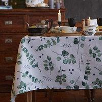 Скатерть 'Доляна' Eucalyptus 180х144 см, 100 хлопок, 164 г/м2
