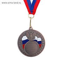 Медаль под нанесение, бронза, d=5 см