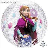 """Шар фольгированный 16"""" 3D-сфера «Холодное сердце II»"""