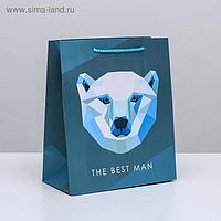 Пакет ламинированный вертикальный The best man, ML 23 × 27 × 11,5 см