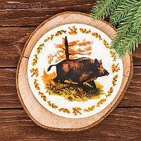 Тарелка декоративная «Кабан», Ø 15 см