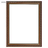 Рама для картин (зеркал) 30 х 40 х 3.3 см, пластиковая, Dorothy коричневая