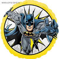 """Шар фольгированный 18"""" круг """"Бэтмен в полете"""" 1202-3201"""