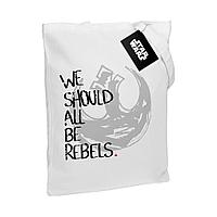 Холщовая сумка Rebels, белая, фото 1