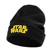 Шапка с вышивкой Star Wars, черная, фото 1