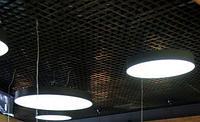 Ячеистый потолок Грильято Албес Черный, 100x100 мм