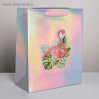 Пакет голографический вертикальный Beautiful, 26 × 32 × 12 см
