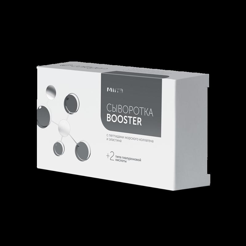 MIRRA Сыворотка-бустер с пептидами коллагена+эластин + 2 типа гиалуроновой кислоты