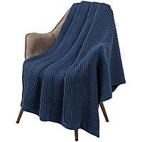 Плед Shirr, синий (деним), фото 1