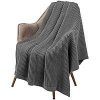 Плед Shirr, серый меланж, фото 1