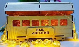 """Подарочная коробка """"Рождественский вагончик"""" (деревянный)"""