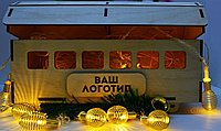 """Подарочная коробка """"Рождественский вагончик"""" (деревянный), фото 2"""