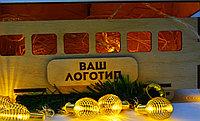 """Подарочная коробка """"Рождественский вагончик"""" (деревянный), фото 3"""
