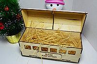 """Подарочная коробка """"Рождественский вагончик"""" (деревянный), фото 4"""