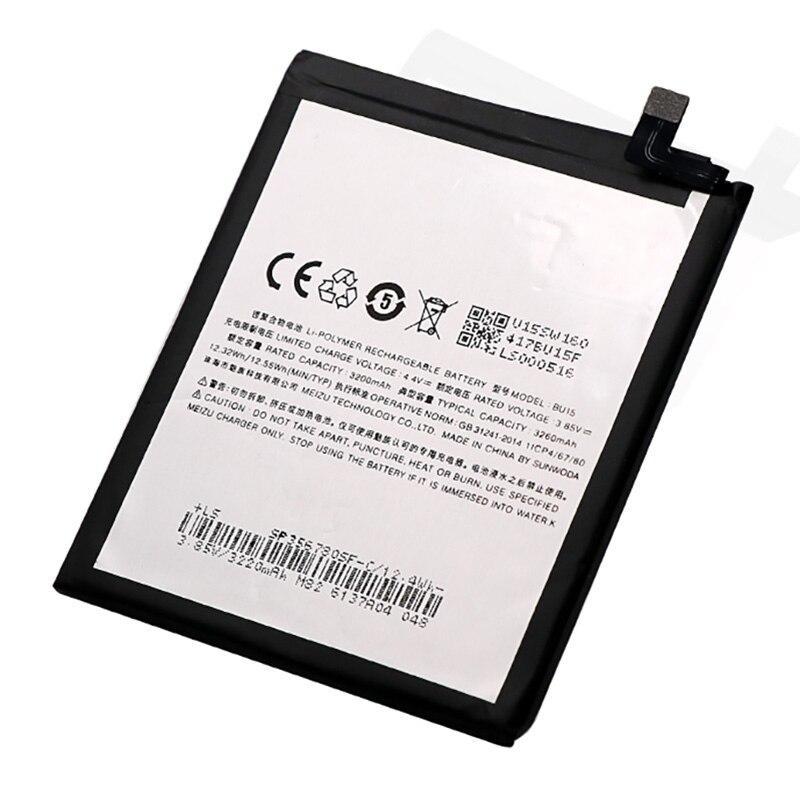 Заводской аккумулятор для Meizu M3 Note/Meizu U20 (BU15, 3260mAh)