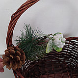 Веточка еловая для оформления подарочной корзины, фото 2