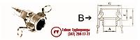 Металлорукав РГМ-БРСВ с наконечником БРС тип B с наружной резьбой
