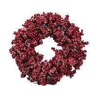 Венок d36см декор Рождественский с красными ягодами