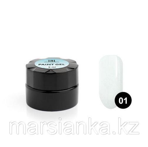 Гель-краска для дизайна ногтей TNL #01 (белая), 6мл