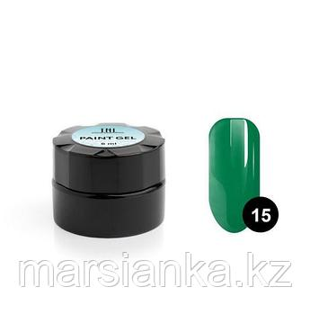 Гель-краска для дизайна ногтей TNL #15 (зеленая), 6мл