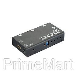 Сплиттер 1x4 HDMI 4K 3D HS-4P4K-60HD3D