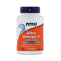 Ультра Омега 3 от NOW Foods 750 мг. 90 капс.