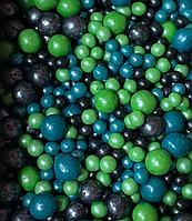 """Драже зерновое в цветной глазури """"Микс"""" 50 гр Зелено-голубой"""