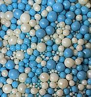 """Драже зерновое в цветной глазури """"Микс"""" 50 гр Бело-голубой"""