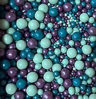 """Драже зерновое в цветной глазури """"Микс"""" 50 гр Голубой-фиолетовый"""