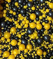 """Драже зерновое в цветной глазури """"Микс"""" 50 гр Черно-желтый"""