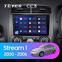Автомагнитола Teyes CC3 4GB/64GB для Honda Stream 1 2000-2006