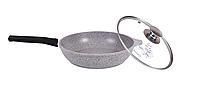 Сковорода 24 см, светлый мрамор  (Кукмара, Россия)