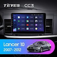 Автомагнитола Teyes CC3 4GB/64GB для Mitsubishi Lancer 10 2007-2012