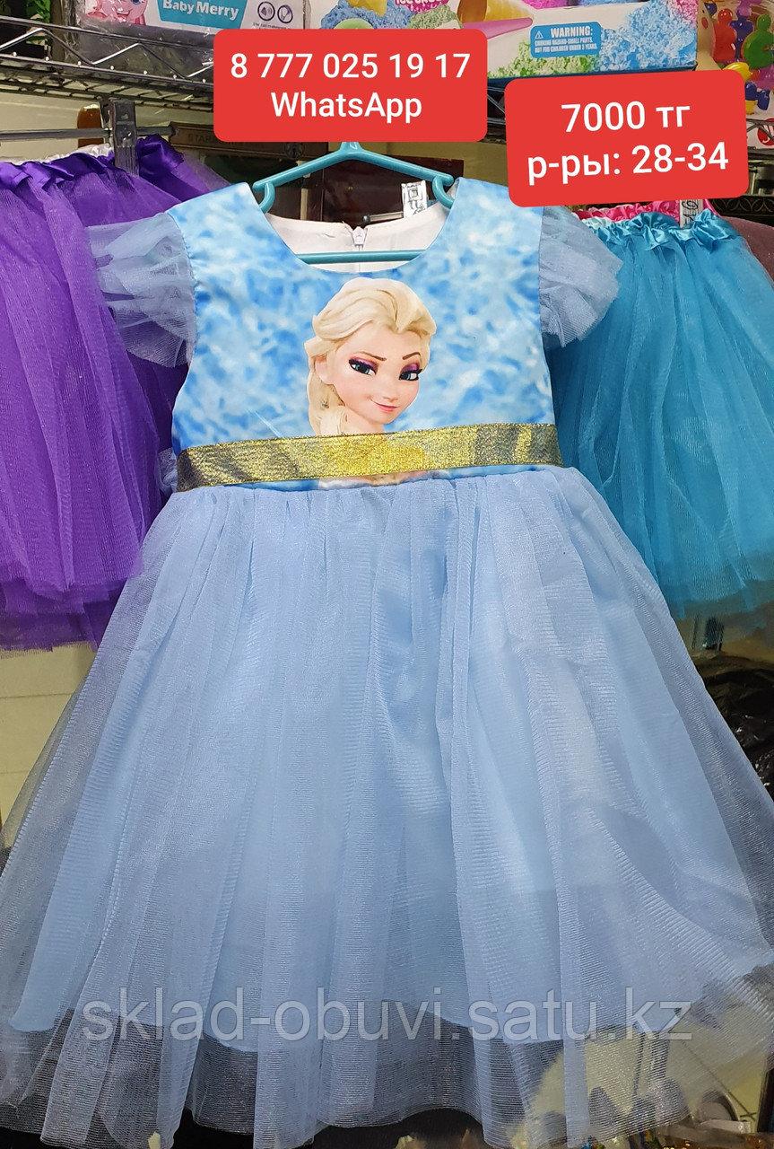 Детский новогодний костюм Эльзы - фото 2