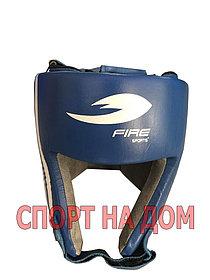 Боксерский шлем Fire Sport Mexico (кожа-синий, размер S)