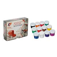 Краски акриловые художественные, набор из 12 цветов по 20 мл «Луч», матовые