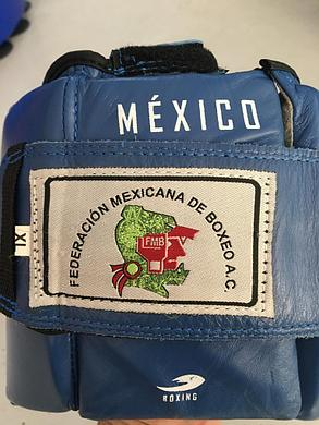 Боксерский шлем Fire Sport Mexico (кожа-синий, размер XL), фото 2