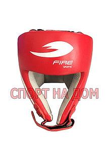 Боксерский шлем Fire Sport Mexico (кожа-красный, размер L)