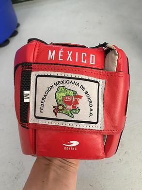 Боксерский шлем Fire Sport Mexico (кожа-красный, размер S), фото 2
