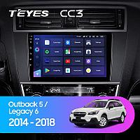 Автомагнитола Teyes CC3 4GB/64GB для Subaru Outback 2014-2018